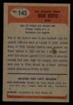 1955 Bowman #142  Bob Boyd  Back Thumbnail
