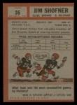 1962 Topps #35  Jim Shofner  Back Thumbnail