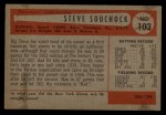 1954 Bowman #103 ALL Steve Souchock  Back Thumbnail