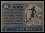1955 Topps #89  Marshall Goldberg  Back Thumbnail