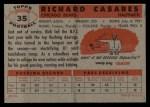 1956 Topps #35  Rick Casares  Back Thumbnail
