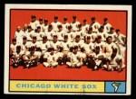 1961 Topps #7 ^YEL^  White Sox Team Front Thumbnail