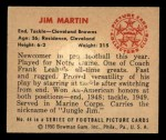 1950 Bowman #44  Jim Martin  Back Thumbnail