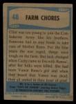 1956 Topps / Bubbles Inc Elvis Presley #48   Farm Chores Back Thumbnail