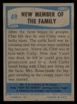 1956 Topps / Bubbles Inc Elvis Presley #49   New Member of the Family Back Thumbnail