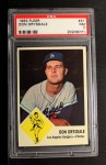 1963 Fleer #41  Don Drysdale  Front Thumbnail