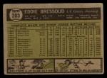 1961 Topps #203 ERR Eddie Bressoud  Back Thumbnail