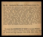 1938 Gum Inc. Horrors of War #36   Sanitarium Evacuates Its Patients Under Fire Back Thumbnail