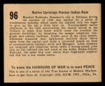1938 Gum Inc. Horrors of War #96   Native Uprisings Harass Italian Rule Back Thumbnail