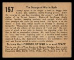 1938 Gum Inc. Horrors of War #157   The Scourge of War in Spain Back Thumbnail