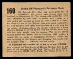 1938 Gum Inc. Horrors of War #160   Setting Off Propaganda Rockets in Spain Back Thumbnail