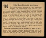 1938 Gum Inc. Horrors of War #110   Rebel Bomb Floods Air Raid Shelter Back Thumbnail