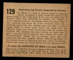 1938 Gum Inc. Horrors of War #129   Swimming Jap Calvary Repulsed by Chinese Back Thumbnail