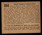1938 Gum Inc. Horrors of War #184   Rebels Trapped in Lerida by Ruse Back Thumbnail