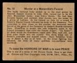 1938 Gum Inc. Horrors of War #19   Murder at Monarchist's Funeral Back Thumbnail