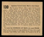 1938 Gum Inc. Horrors of War #130   Japanese Tunnel Under Wall to their Doom Back Thumbnail