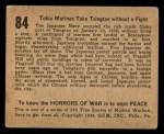 1938 Gum Inc. Horrors of War #84   Tokio Marines Take Tsingtao without Fight Back Thumbnail