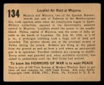 1938 Gum Inc. Horrors of War #134   Loyalist Air Raid at Majorca Back Thumbnail