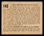 1938 Gum Inc. Horrors of War #143   Itallians Bomb Red Cross Unit at Kworam Back Thumbnail