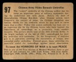 1938 Gum Inc. Horrors of War #97   Chinese Army Hides Beneath Umbrellas Back Thumbnail