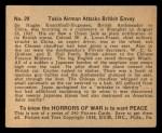 1938 Gum Inc. Horrors of War #29   Tokio Airman Attacks British Envoy Back Thumbnail