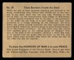 1938 Gum Inc. Horrors of War #34   Tokio Bombers Invade the Dead Back Thumbnail