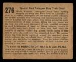 1938 Gum Inc. Horrors of War #276   Spanish Raid Refugees Bury Their Dead Back Thumbnail