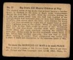 1938 Gum Inc. Horrors of War #22   Big Shells Kill Madrid Children at Play Back Thumbnail