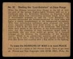 1938 Gum Inc. Horrors of War #32   Shelling the Lost Battalion at Close Range Back Thumbnail