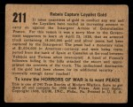 1938 Gum Inc. Horrors of War #211   Rebels Capture Loyalist Gold Back Thumbnail