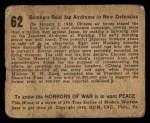 1938 Gum Inc. Horrors of War #62   Bombers Raid Jap Airdrome in New Defensive Back Thumbnail