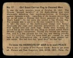 1938 Gum Inc. Horrors of War #17   Girl Scout Carries Flag to Doomed Men Back Thumbnail
