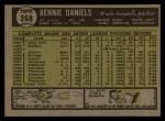 1961 Topps #368  Bennie Daniels  Back Thumbnail