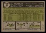 1961 Topps #62 ERR Al Pilarcik  Back Thumbnail