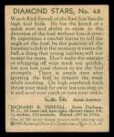 1935 Diamond Stars #48  Rick Ferrell   Back Thumbnail
