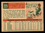 1959 Topps #225  Johnny Logan  Back Thumbnail