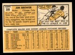 1963 Topps #309  Jim Brewer  Back Thumbnail