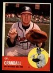 1963 Topps #460  Del Crandall  Front Thumbnail