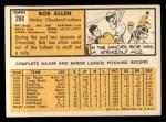 1963 Topps #266  Bob Allen  Back Thumbnail