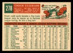 1959 Topps #278  Chuck Essegian  Back Thumbnail