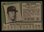 1971 Topps #306 ERR Jim Nash  Back Thumbnail