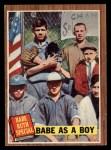 1962 Topps #135 A  -  Babe Ruth Babe as a Boy Front Thumbnail