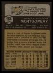 1973 Topps #164  Monty Montgomery  Back Thumbnail