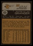1973 Topps #523  Wayne Granger  Back Thumbnail