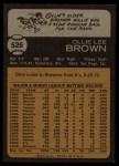 1973 Topps #526  Ollie Brown  Back Thumbnail
