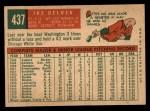 1959 Topps #437  Ike Delock  Back Thumbnail