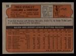 1972 Topps #59  Fred Stanley  Back Thumbnail