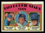 1972 Topps #61   -  Gene Hiser / Burt Hooton / Earl Stephenson Cubs Rookies   Front Thumbnail