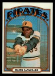 1972 Topps #60  Manny Sanguillen  Front Thumbnail
