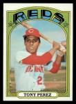 1972 Topps #80  Tony Perez  Front Thumbnail